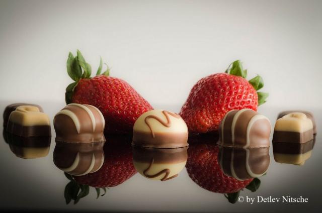 Erdbeeren mit Pralinen